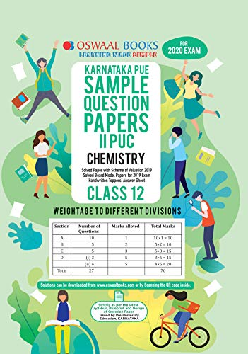 Oswaal Karnataka PUE Sample Question Papers II PUC Class 12 Chemistry (March 2020 Exam)