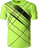 Jeansian Herren Sportswear Quick Dry Short Sleeve T-Shirt LSL133 GreenYellow M [Apparel]