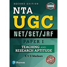 NTA UGC NET/SET/JRF - Paper 1: Teaching and Research Aptitude by Pearson