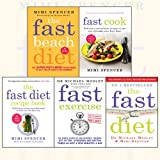 The Fast Diet Collection 5 Books Set,(Fast Beach Diet, Fast Cook, The Fast Diet Recipe Book, Fast Exercise and The Fast Diet)