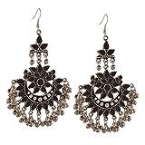 #4: Zephyrr Fashion Multicolor Oxidized Silver Afghani Tribal Dangle & Drop Earring For Women