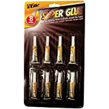 Invero Extra Strong Superglue for Plastic Glass Rubber Paper, Pack of 8
