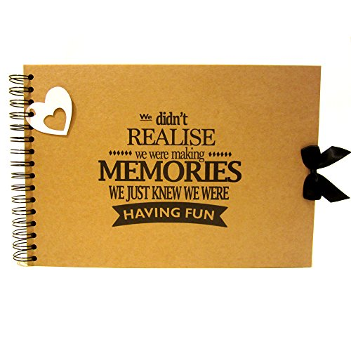 A5 A4 Making Memories Having Fun Scrapbook, Landscape, Card Pages, Photo Album, Keepsake (A5 (White Pages)) Test