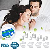 Anti-snoring Device - Comfortable and Flexible Anti-snoring Plug - Easy Breathing, Reusable snoring Plug, Different Sizes, Unisex Anti-snoring Device, 8PCS,
