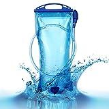 Ventcy Trinkblase 2L Wasserbeutel Wasserblase für Rucksack Wanderrucksack Trinkrucksack Radfahren Wasserblase Trinksystem Zum Camping Wandern Radfahren Freiheit Outdoor
