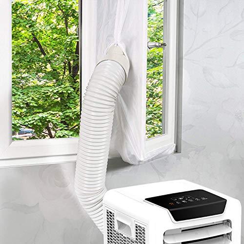 Kasimir Fensterabdichtung für Mobile Klimageräte, Klimaanlagen, Wäschetrockner, Ablufttrockner Passend zu Jedem Klimagerät und Allen Schlauchgrößen – klimaanlage fensterabdichtung Weiß