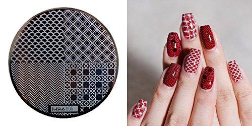 Nail Art Stamping Bild Metal Platte Nail Art Design Muster Vorlage Viereck unregelmäßig - FashionLife