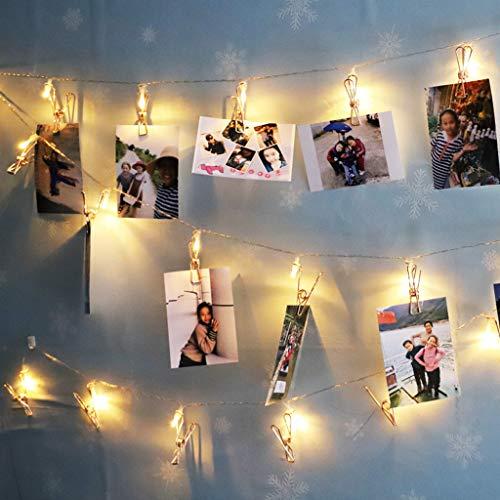 terkette Fotos 1.8/3.3M 10/20LED Eisen Art Deko Lichterkette Batterie LED Licht Hochzeit Party Halloween Xmas Haus Innen Außen Deko String Lights (B(3.3m,20LED)) ()