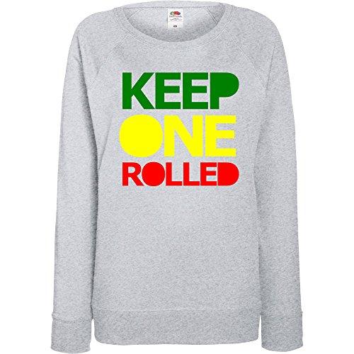 TRVPPY - Sweat Pull, modèle Keep One Rolled - Femme, différentes tailles et couleurs Gris