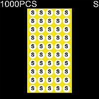Etiqueta adhesiva de tamaño redondo para ropa, tamaño: 1000 PCS Tamaño: S, El embalaje conveniente