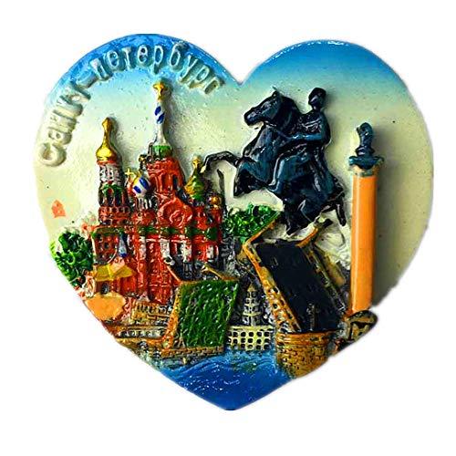 lood Kathedrale Brave Knights Palace Bridge Russland 3D Kühlschrank Kühlschrankmagnet Travel Souvenir Collection White Board Aufkleber ()