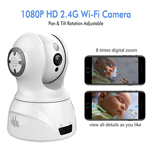 1080p 2 4GHz HD Face Detection Wireless Indoor WiFi Home Security