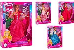 GLOBO- Princess Fashion Dolls W/Accessories 4Asstd (36319), (1)