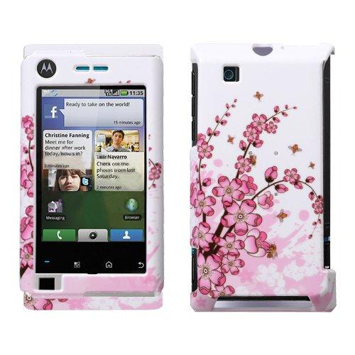 Hartschale für Motorola A555 (aufsteckbar, Hartplastik, Motiv Devour Spring Flowers)