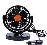 Demarkt Auto Kfz Lüfter Ventilator Mini Auto Ventilator Gebläse Klimaanlage 360 Grad Drehung