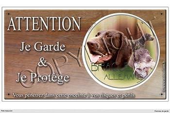 Panneau chien ou plaque Braque-Allemand 30 cm