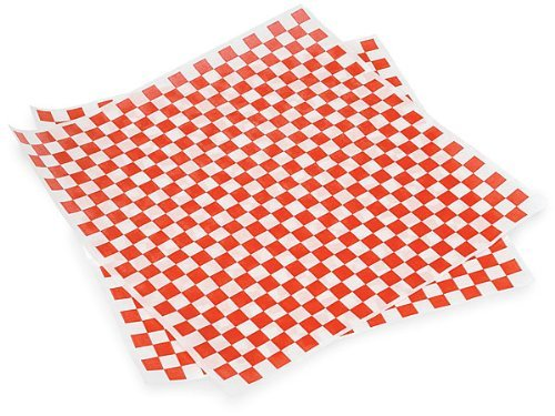 Food Basket Liner Deli Wrap Red Checkered Sandwich Wrap by Quality Food Supplies (Liner Food Basket)