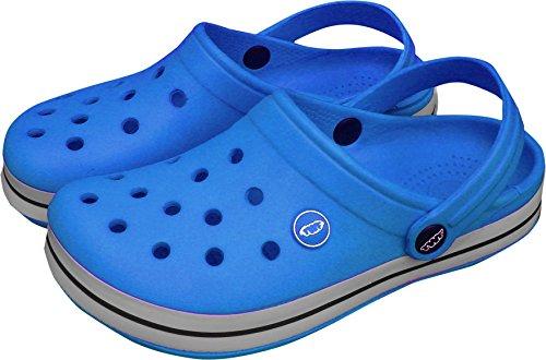 TWF Sharkies Kinder Clogs Strandschuhe, Blau - blau - Größe: 31 EU Kind