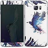 Samsung Galaxy S6 Edge Plus Case Skin Sticker aus Vinyl-Folie Aufkleber Vogel Kunst Krähe