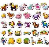 Kühlschrankmagnete, magnetspielzeug Kinder FARM der tiere 31 Stück figuren - Magnete für Kinder Tiere - Tiere spielzeug für Jungen und Mädchen - Kleinkind spielzeug 2 jahre - Spielzeug 2 jährige