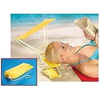LPPO Sunny Boy–Reposacabezas de playa con forma de camilla, techo para protección solar