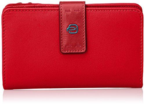 Piquadro PD1353P15/R2 Pulse Portafoglio, Rosso, 16 cm