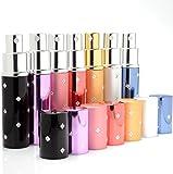 MINGZE 7 Stück 10 ML Parfümzerstäuber, Parfüm Glasbehälter Glasflasche, Reise Mini Tragbar Leer Parfüm Sprühflasche Spender