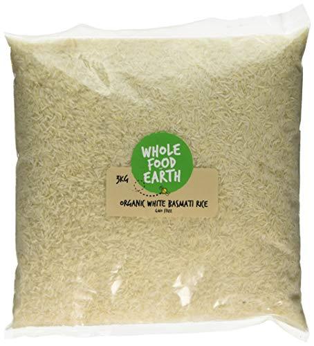 Wholefood Earth Organic White Basmati Rice, 3 kg