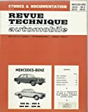 Revue technique de l'Automobile N° 267: Mercedes 230 SL, 250 S, 250 SE, 250 SL