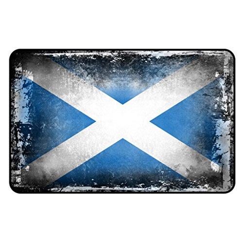 Cadora Magnetschild Kühlschrankmagnet Flagge Schottland shabby chic abgenutzt alt gebraucht -