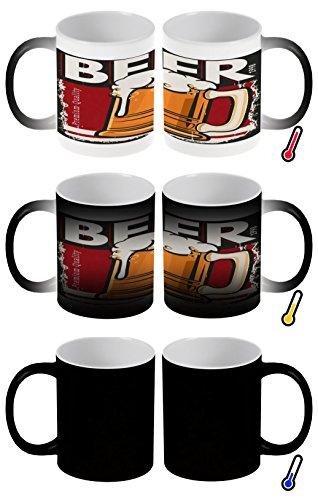 LEotiE SINCE 2004 Zaubertasse Farbwechseltasse Kaffeebecher Tasse Becher Latte Cappuccino Espresso...