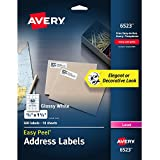 """Avery Easy Peel Address Labels, Glossy, 2/3"""" x 1-3/4"""", Pack of 600 (6523)"""