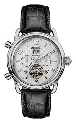 Ingersoll Herren Datum klassisch Automatik Uhr mit Leder Armband I00903