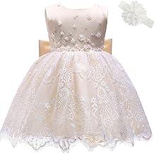 AHAHA Vestidos de Boda de la Princesa del Bebé Bautizo Vestido de Fiesta de Cumpleaños del Bebé