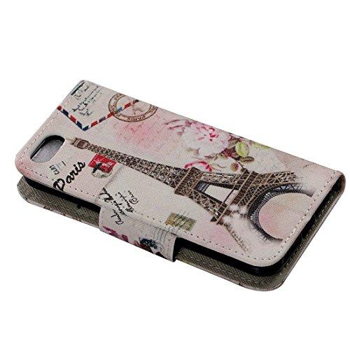 TIODIO® 4 en 1 Coque Flip Case Cover Coque de Protection pour Apple iPhone 5S E/ iPhone 5S Étui en Cuir Protecteur Portefeuille Housse avec Support Fonction, Protecteur d'écran et stylet inclus, A41 A09