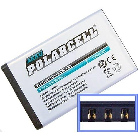 PolarCell Akku für Nokia C6-00, Lumia 620 1300mAh (C6 Nokia)