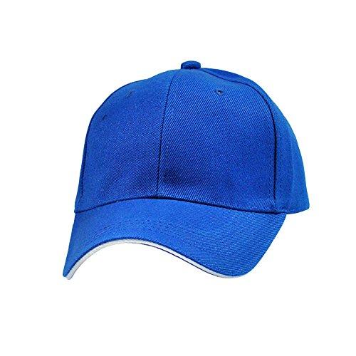 MORESAVE Uomo Donna vuoto pianura Baseball Cap curve Sport Sun Visor cappello di golf regolabile (Signore Blu Visor)