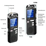 Digital Voice Recorder by EVIDA L60 1536Kbps PCM Linearity 8GB with Play Speed Adjusting Built in Mp3 Player Voice Activated Recording Portable Stereo Audio Dictaphone Metal Aluminum Alloy Design High Quality Sound Recorder