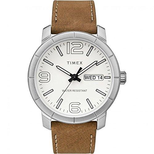 Timex Orologio Analogico Automatico Unisex Adulto con Cinturino in Pelle TW2R64100