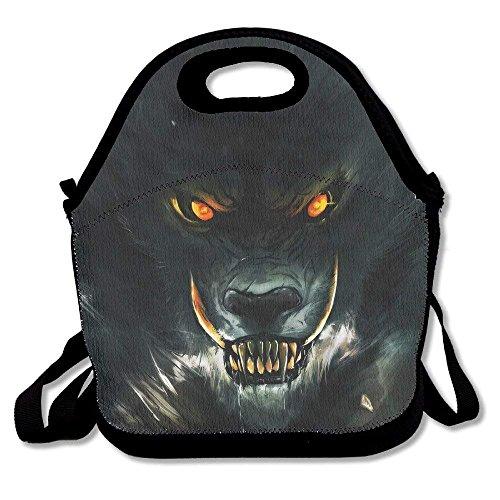 fengxutongxue Brutal Werewolf Eyes Lunch Bag for Men Women Kids - Best Travel Bag