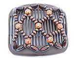 African Butterfly Haar Clip 11cm braun Kamm