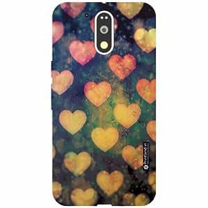 Motorola Moto G4 Plus Back Cover - Silicon Love Heart Designer Cases