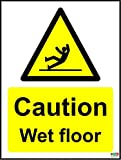 Caution Wet Floor Sign – Selbstklebendes Vinyl 150 mm x 200 mm