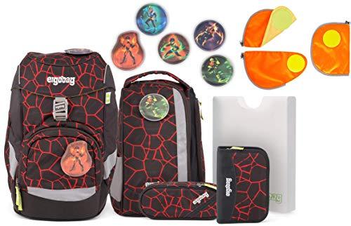 Ergobag Pack SupBärheld Schulrucksack-Set 6tlg. + Sicherheitsset Orange