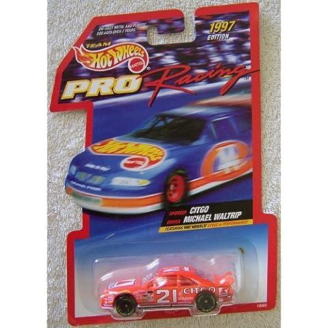 1997 Edition Team Hot Wheels Pro Racing Michael Waltrip #21 Citgo Die Cast Car