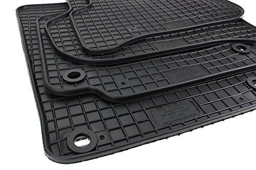 kfzpremiumteile24 tapis en caoutchouc Tapis de sol de qualité originale en caoutchouc noir 4 pièces
