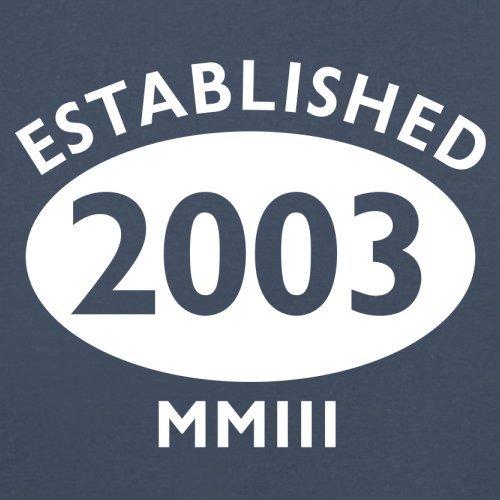 Gegründet 2003 Römische Ziffern - 14 Geburtstag - Herren T-Shirt - 13 Farben Navy