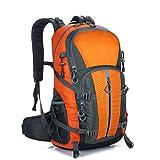 EUDHGK Neue Art-Qualit?TS-Wasserdichte Polyester-Gewebe-kletternde Taschen 40L kampierender wandernder Sport-Rucksack im Freien Orange