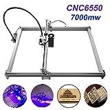 TopDirect 7000mW Laser Graviermaschine 6550 CNC Lasergravierer Engraving Carving Maschine Gravur Schnitzmaschine DIY Laserdrucker mit Schutzbrille, Gravurfläche 650x500mm