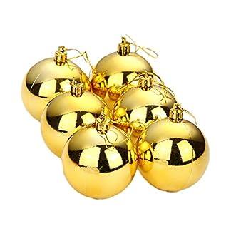 Da.Wa 6pcs de Colgante Adornos la Bolas de Navidad para Árbol de Navidad Decoración Oro-6cm